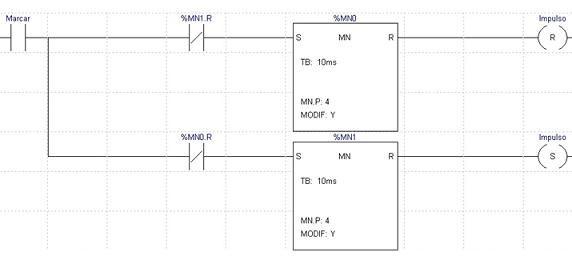 la lógica de escalera del PLC