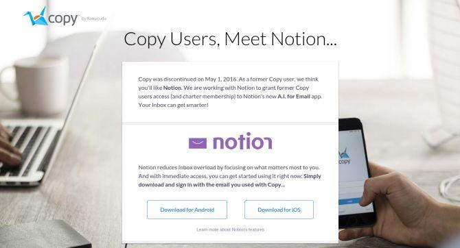Dependencia de un proveedor de copia