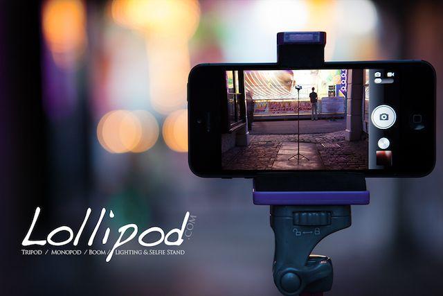 Lollipod.com - El trípode / Monopod / pescante / Iluminación & amp; Selfie reposar durante varios dispositivos de teléfonos inteligentes para GoPro, las cámaras más pequeñas, luces estroboscópicas o luces de vídeo.