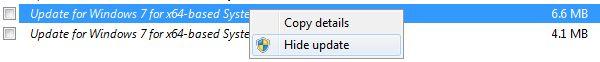 Hide de Windows Update