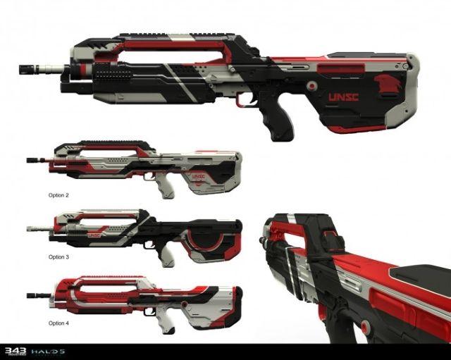 Halo 5 guardianes Arma Concept Art Ejemplo