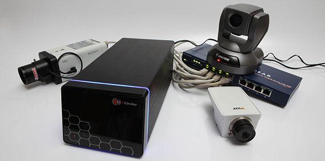 Sistema de cámaras de seguridad IP con NVR