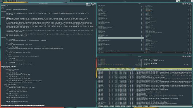 entorno de escritorio Linux impresionante gestor de ventanas