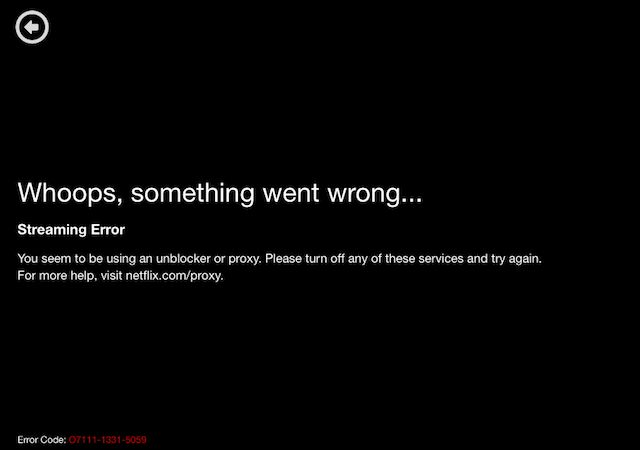 Netflix-desbloqueo-vpn-código-error