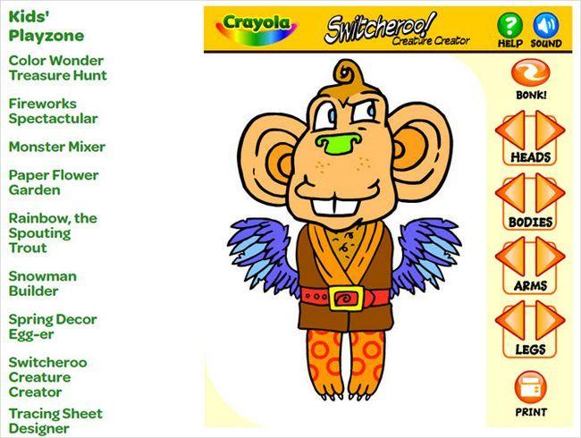 niños Crayola monstruo Playzone
