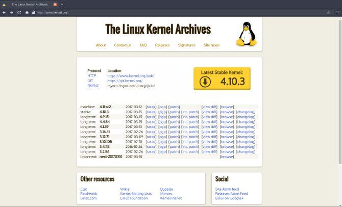 kernel de Linux