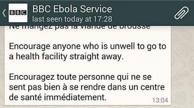 twitter-WhatsApp-noticias-services-BBC-ébola