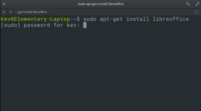 La instalación de LibreOffice A través de la línea de comandos