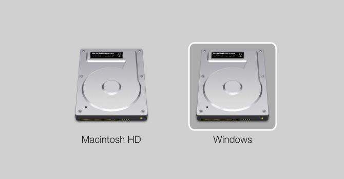 Pantalla Mac Dual Boot Selection