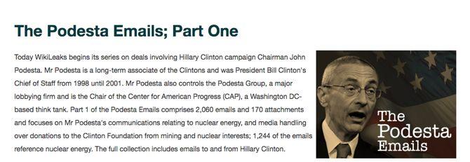 WikiLeaks Podesta