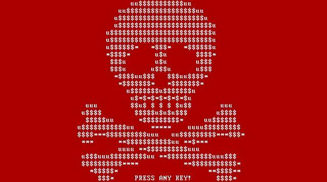 pantalla de bloqueo ransomware petya