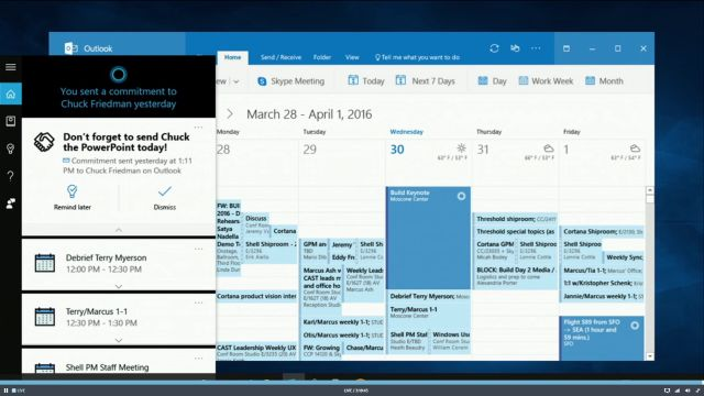 Cortana de Outlook