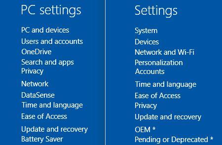 Ajustes de PC de Windows 10