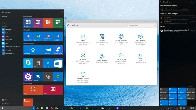 Windows 10 Build 10074 Escritorio