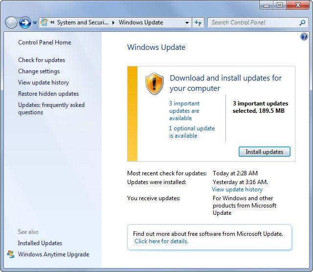 actualizacion de Windows