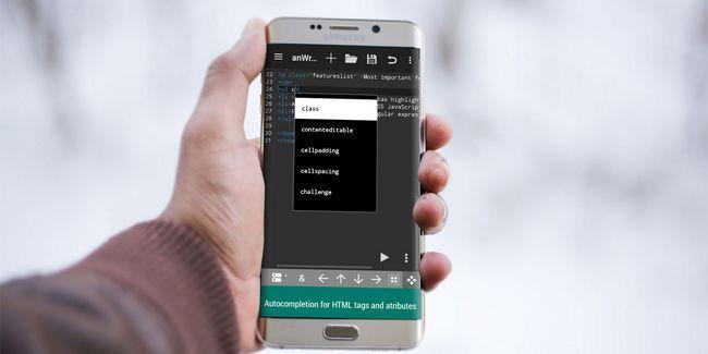 Sí, se puede codificar en el camino: 7 de los mejores editores de html para android