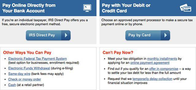 impuestos-online-ventas-IRS-pago directo