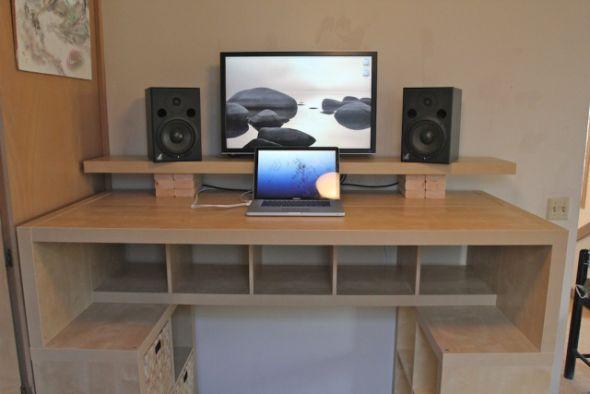 de pie los planes de diseño de escritorio