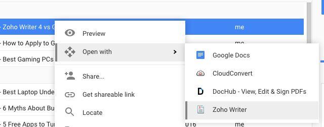 Zoho-escritor-google-drive-addon